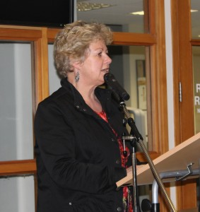 Rachel Scott, the Otago University Press Publisher addressed the crowd to begin  the formal part of the evening