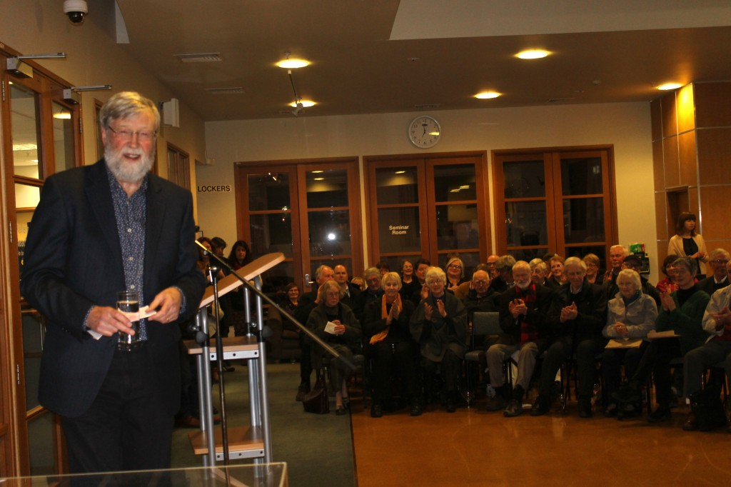 Erik gave an entertaining speech to those who came to the Hocken Library to help him launch his new book.