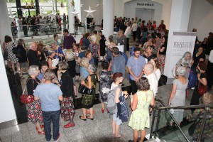 Crowds gather for the launch of A History of New Zealand Women