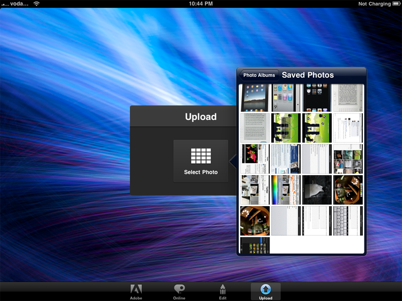 Adobe Photoshop Essentials - selecting images stored on your iPad