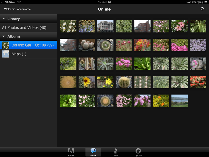Adobe Photoshop Essentials - viewing images on your online Photoshop Essentials account
