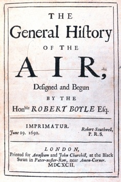 Robert Boyle's General History of the Air