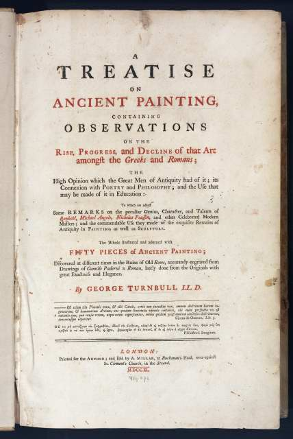 Treatise on Ancient Painting (1740) title page