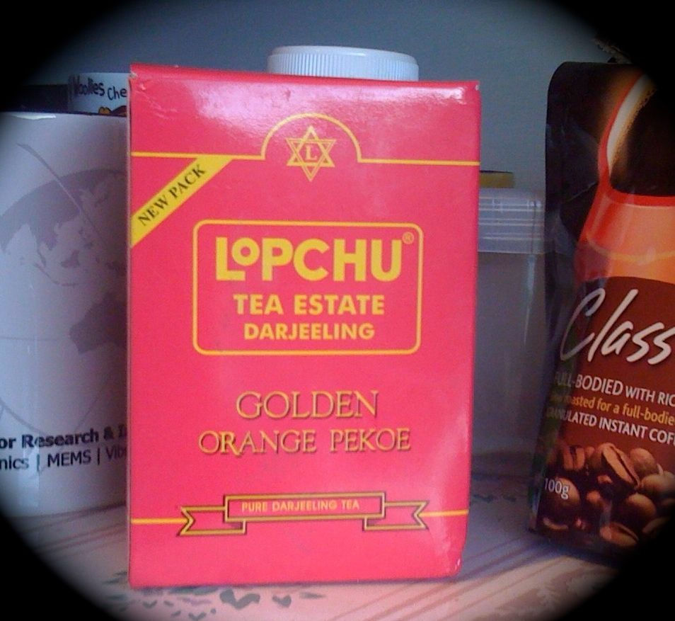 Lopchu tea in Dunedin kitchen cupboard. Photograph by author.