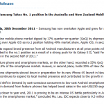 Screenshot of the press release for IDC's ANZ Quarterly Mobile Devices Tracker (2011 Q3)