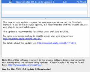 Screenshot - Java for OS X Lion 2012-003 update
