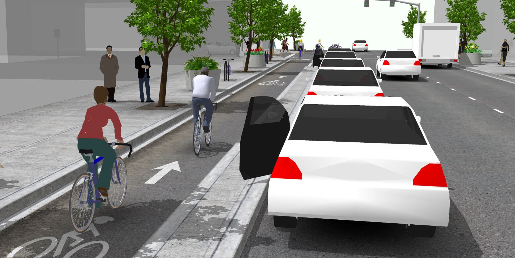 credit: NACTO Urban Bikeway Design Guide