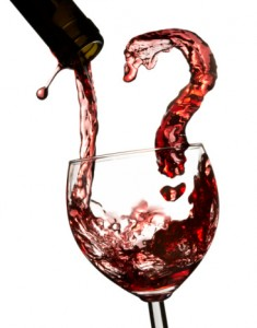 Red wine question mark