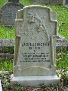 Ceylon grave