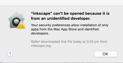 Installing Inkscape (0 91) on MacOS (10 7-10 10