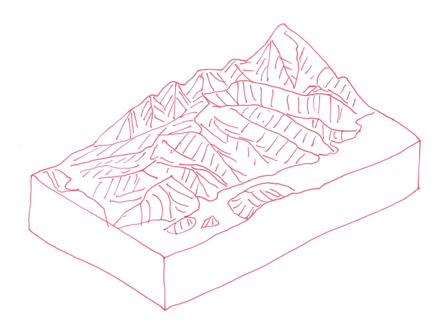 3d Block Diagram Incorporating Topography  Using Some Non