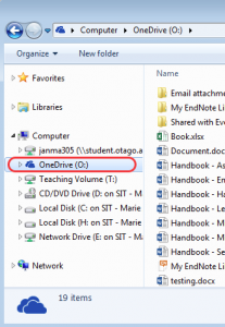 screenshot of windows explorer highlighting your One Drive
