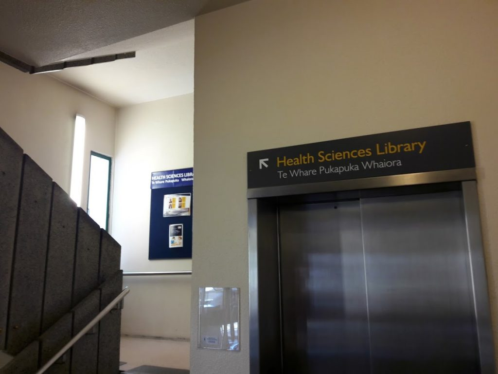 Stairs to Medical Library