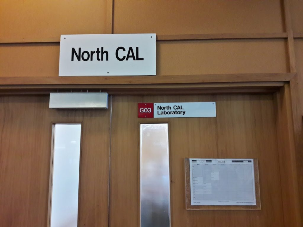 Entrance door to North CAL (opposite Science Library entrance in the foyer).