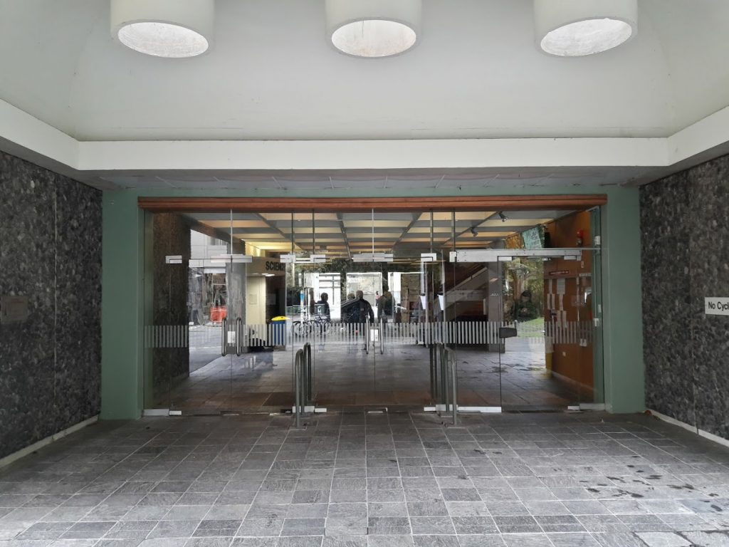 Entrance to Science Library and North CAL