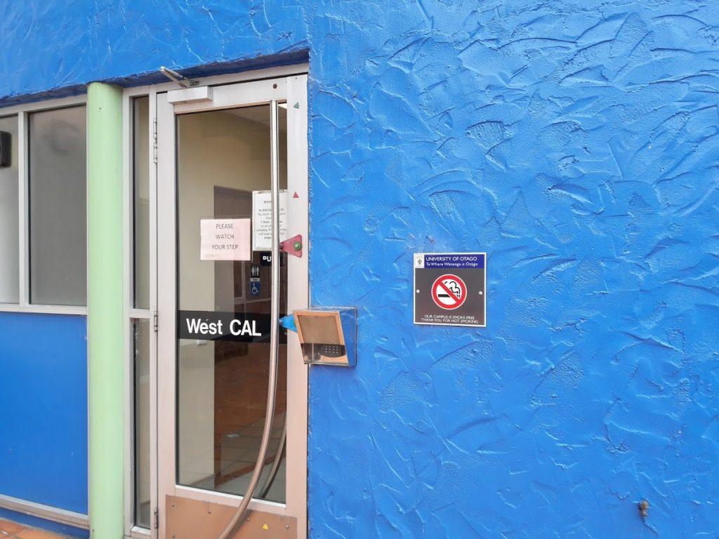 West CAL outside door
