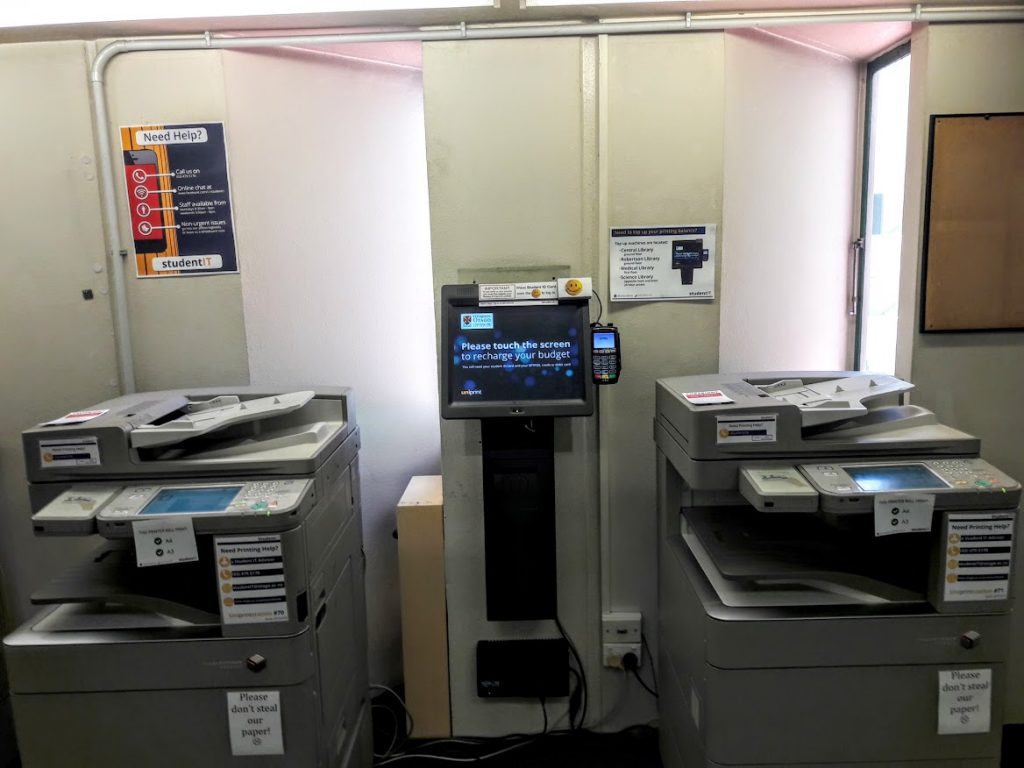 Medical Library printers - 1st floor.