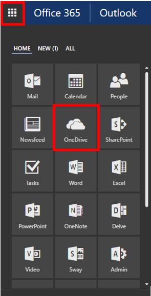 Webmail OneDrive options