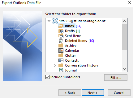 Select Folder To Export