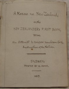Title page of A Korao no New Zealand