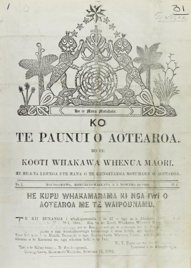 Te Paki o Matariki, 20 November, 1894