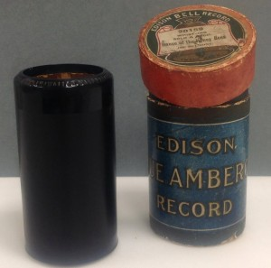 Edison blue amberol cylinder. Hocken Collections; uncatalogued.
