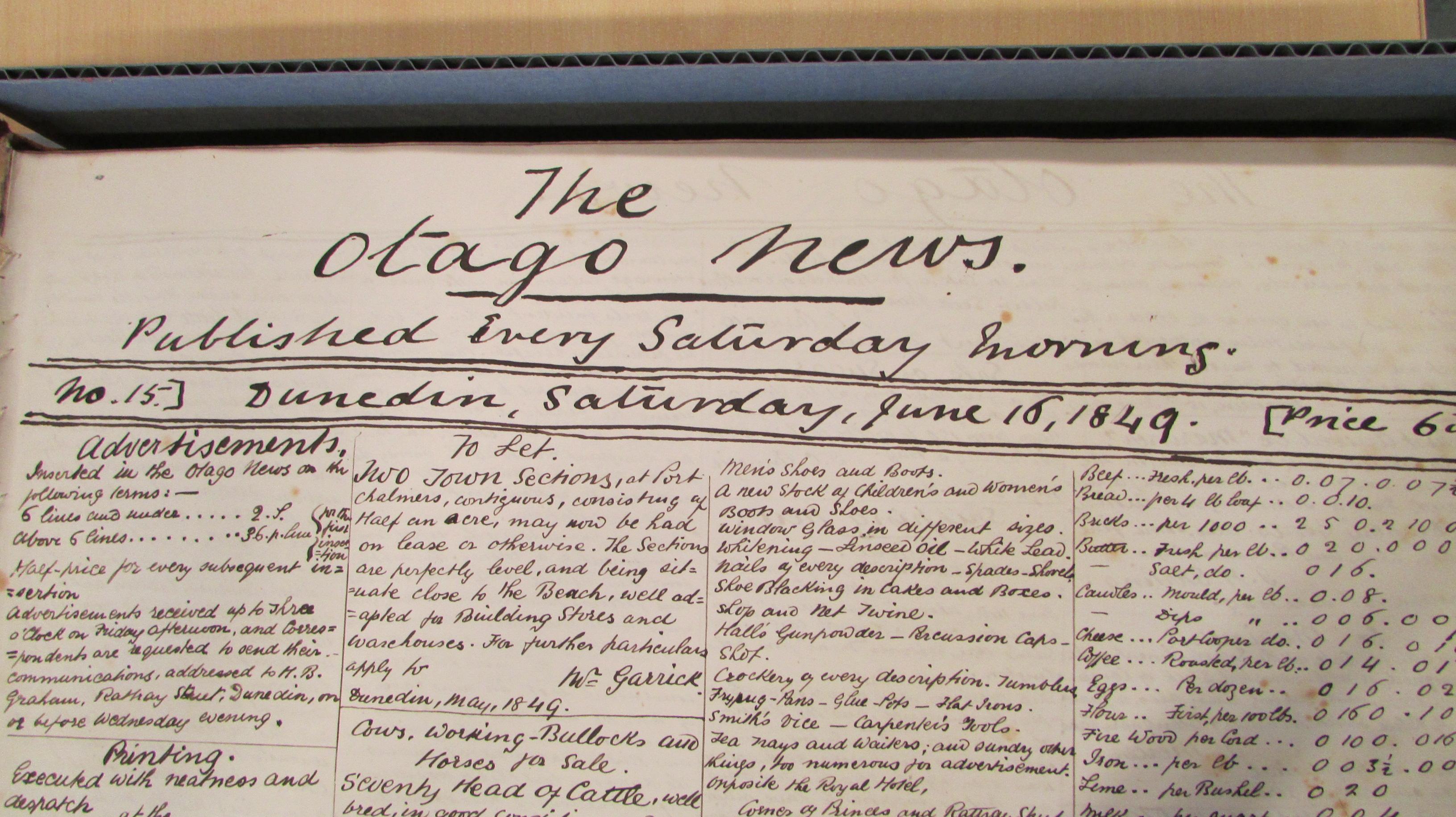 university of otago history papers