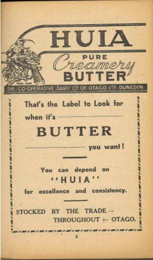 Huia butter