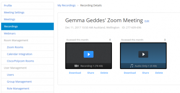 Downloading And Sharing Cloud Recordings Zoom